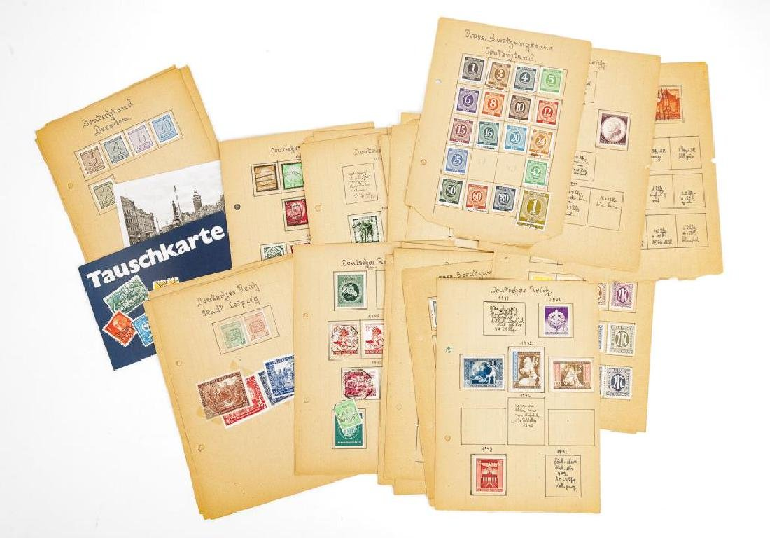 Collection of World War II Era German Stamps
