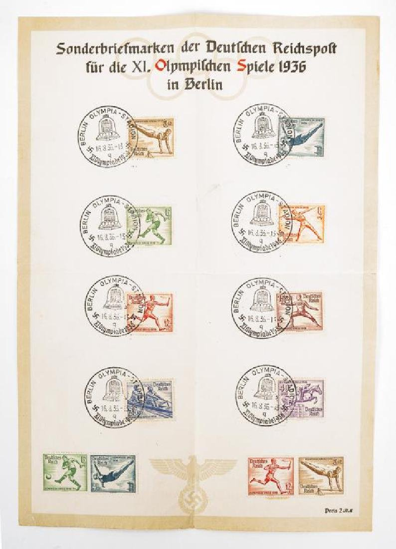 Collection of World War II Era German Stamps - 2