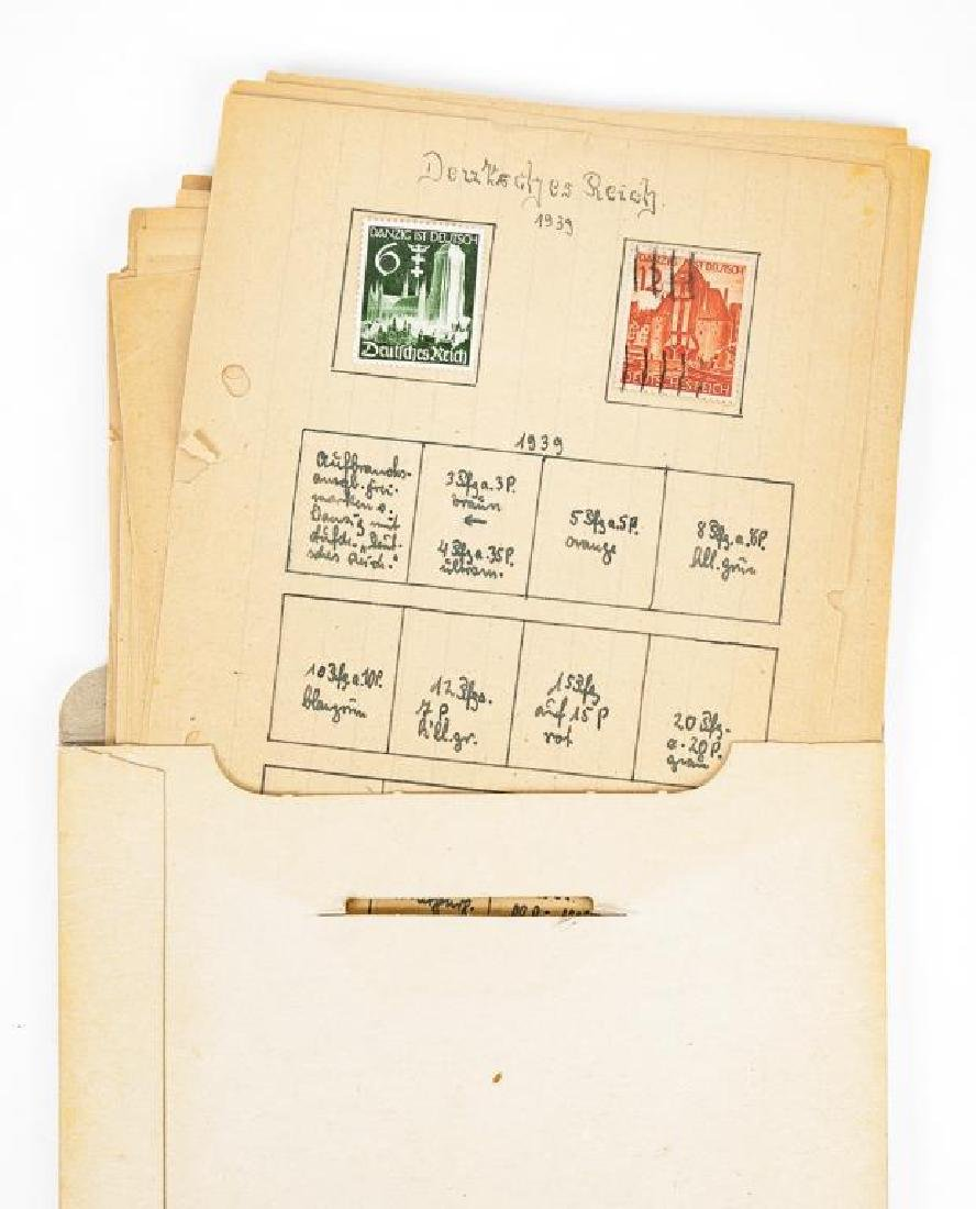 Collection of World War II Era German Stamps - 4
