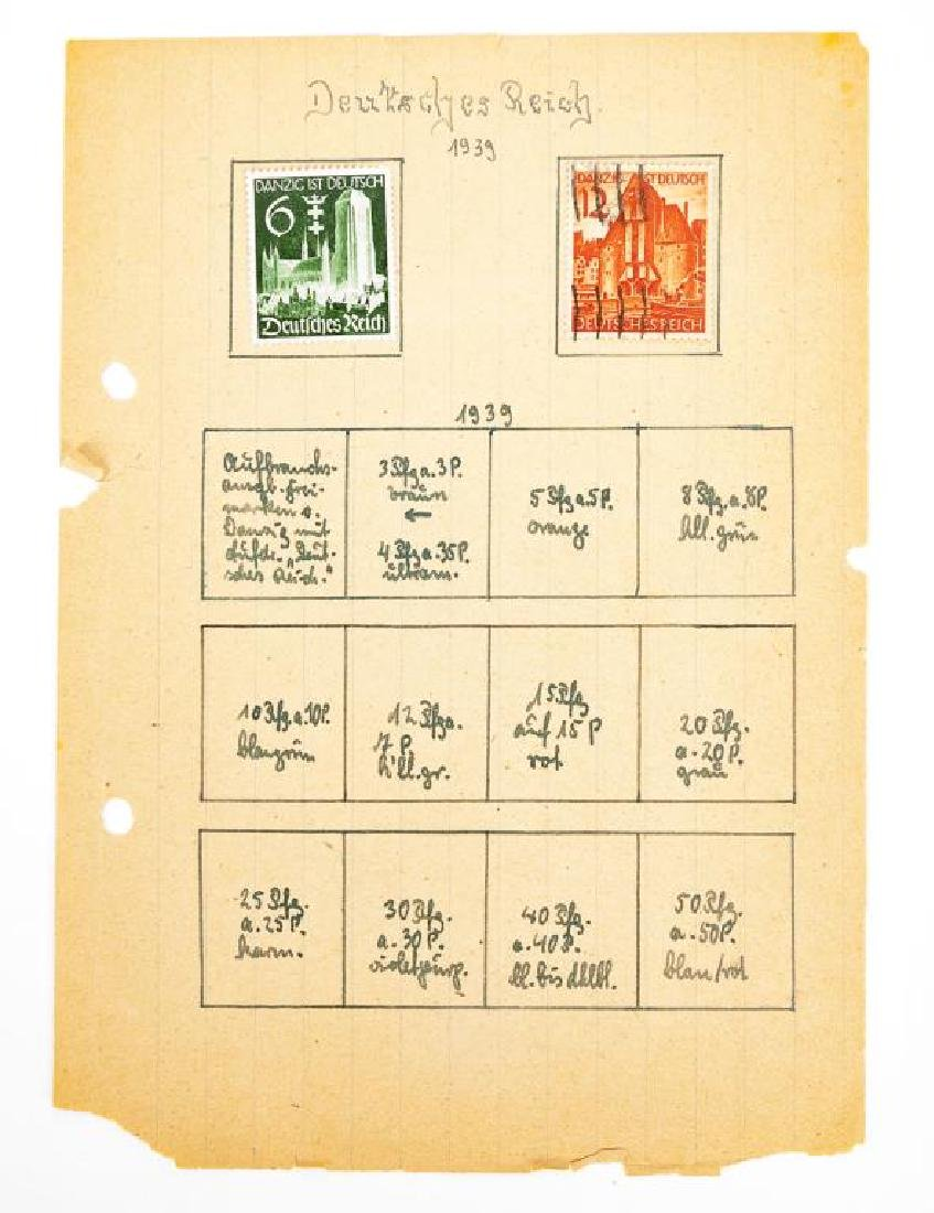 Collection of World War II Era German Stamps - 6