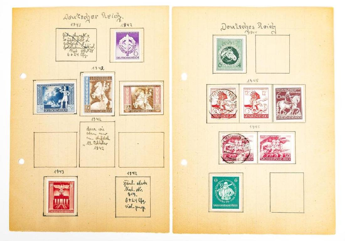 Collection of World War II Era German Stamps - 7