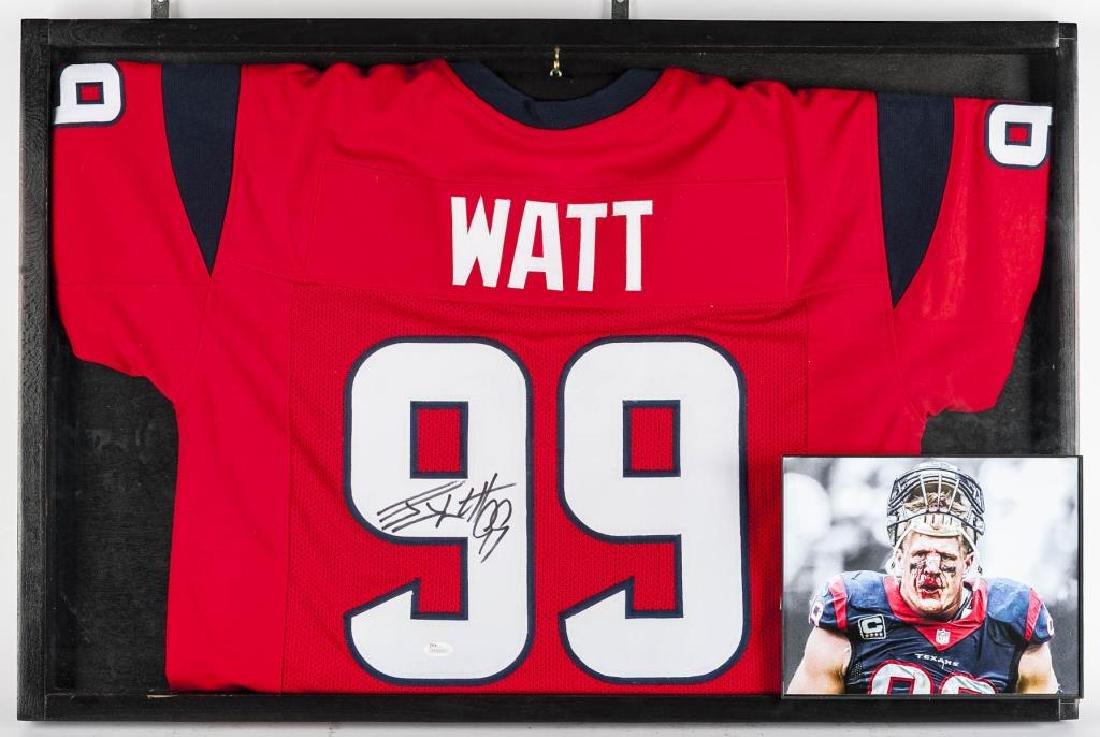 Autographed J.J. Watt Football Jersey