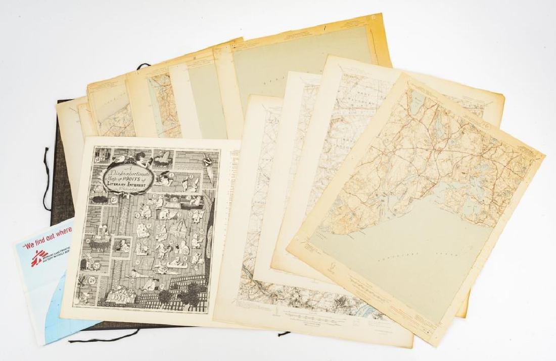 Portfolio Containing 21 Topographic Maps