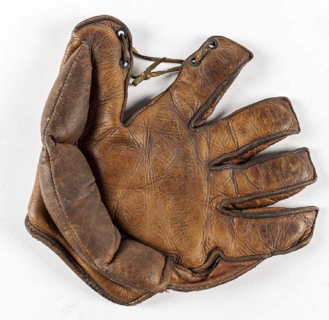 Vintage 1930's Crescent Pad Baseball Glove