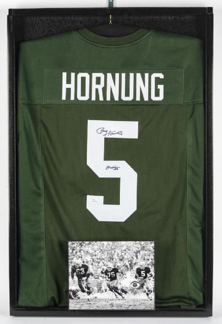 Autographed Paul Hornung Football Jersey