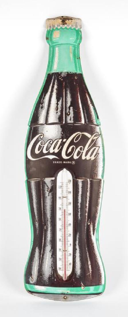 Vintage Tin Litho Coca-Cola Thermometer