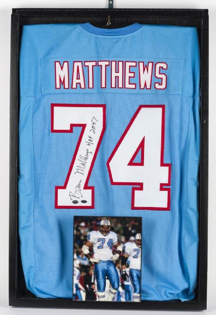 Autographed Bruce Matthews Football Jersey