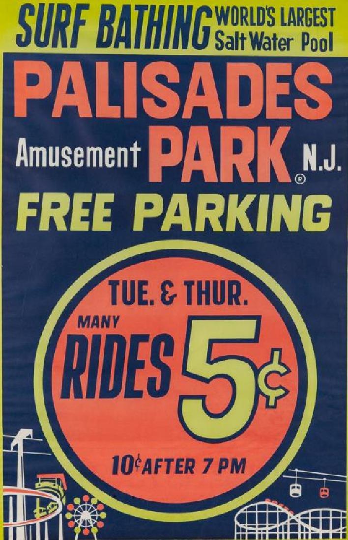1950s Palisades Amusement Park Poster
