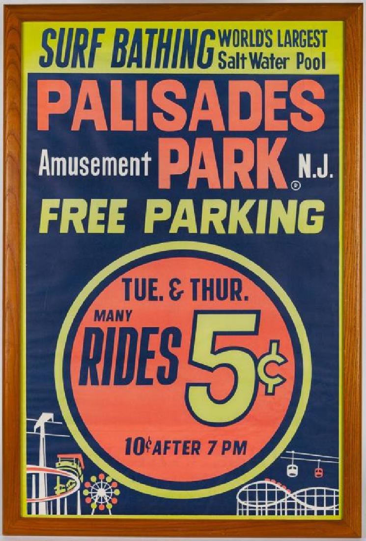 1950s Palisades Amusement Park Poster - 2