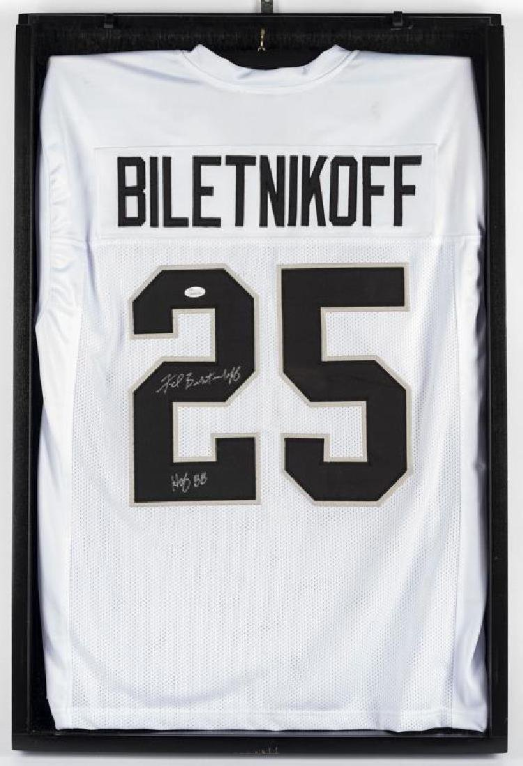 Autographed Fred Beletnikoff Football Jersey