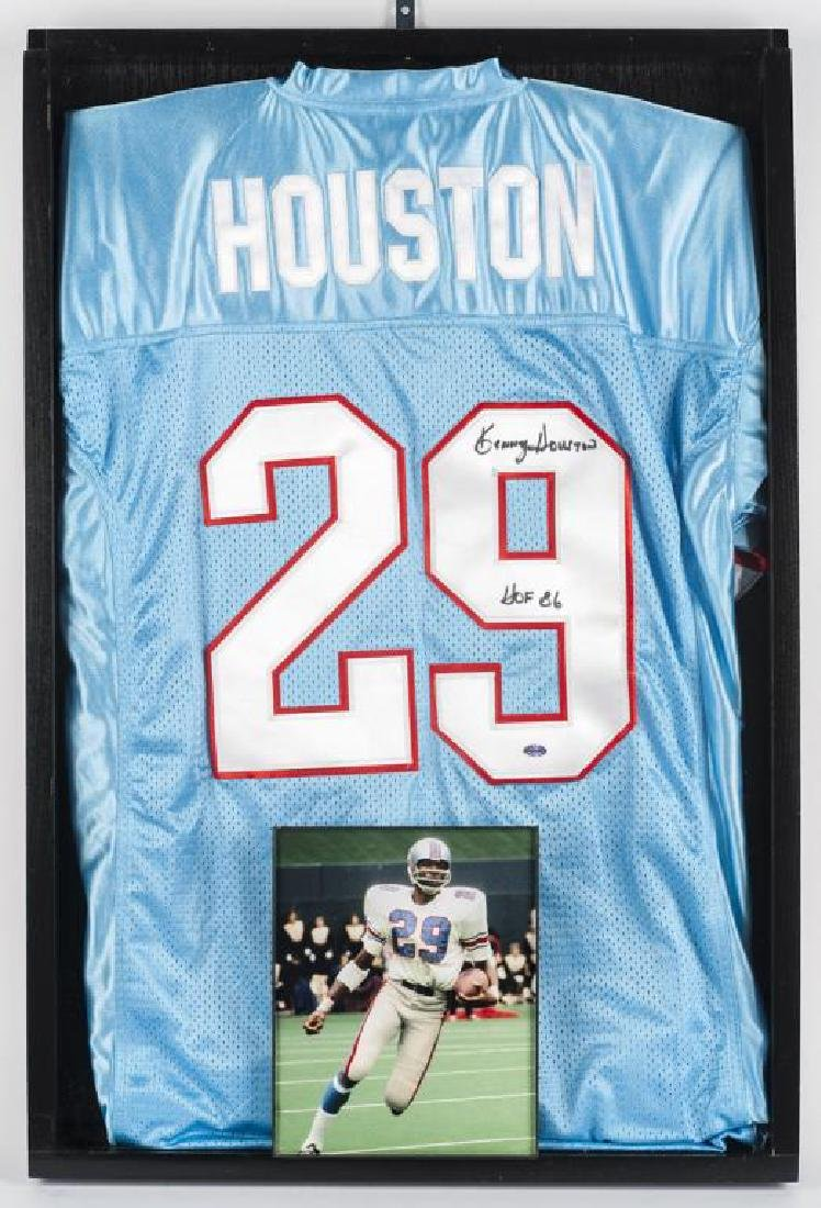 Autographed Kenny Houston Football Jersey