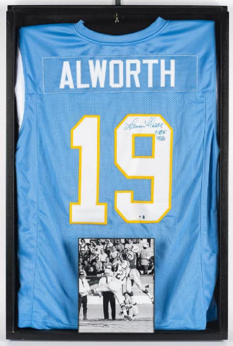 Autographed Lance Alworth Football Jersey