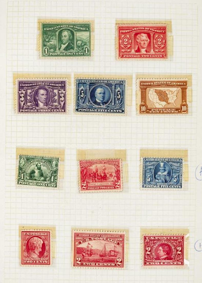US Stamps Early 20th Century Mint Commemorative