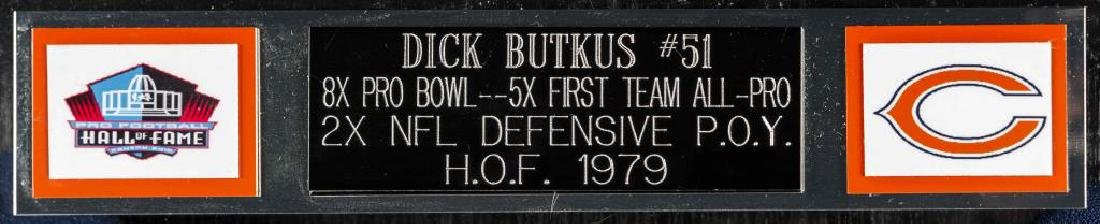 Autographed Dick Butkus Football Jersey - 3