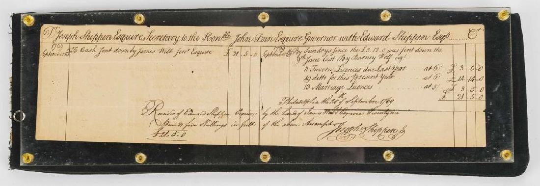 Joseph Shippen Signed Document to Gov. John Penn