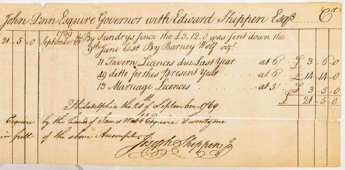 Joseph Shippen Signed Document to Gov. John Penn - 4