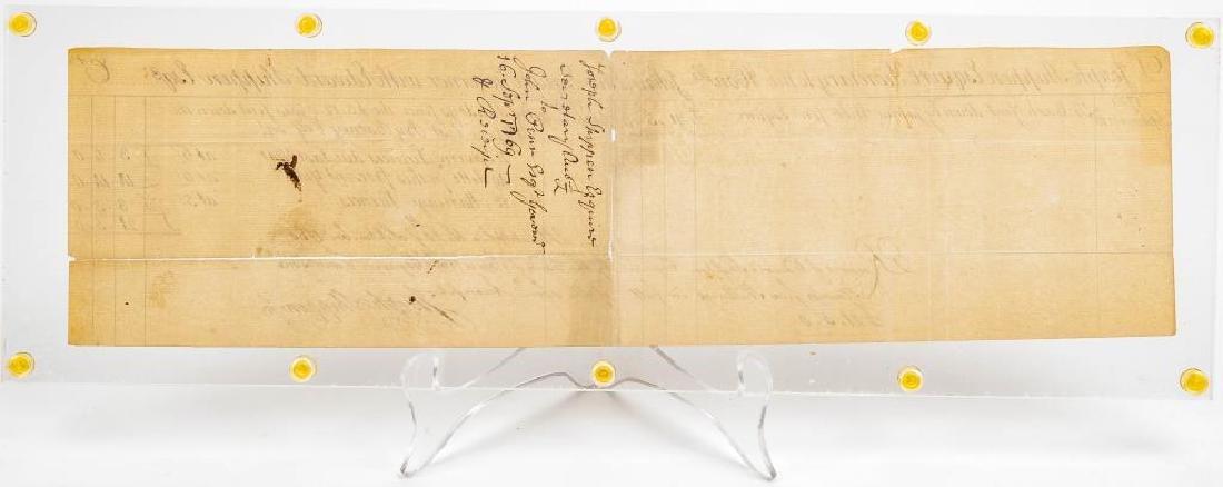Joseph Shippen Signed Document to Gov. John Penn - 6