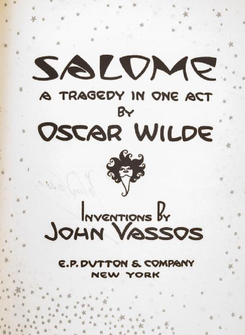 Salome by Oscar Wilde Signed by John Vasso