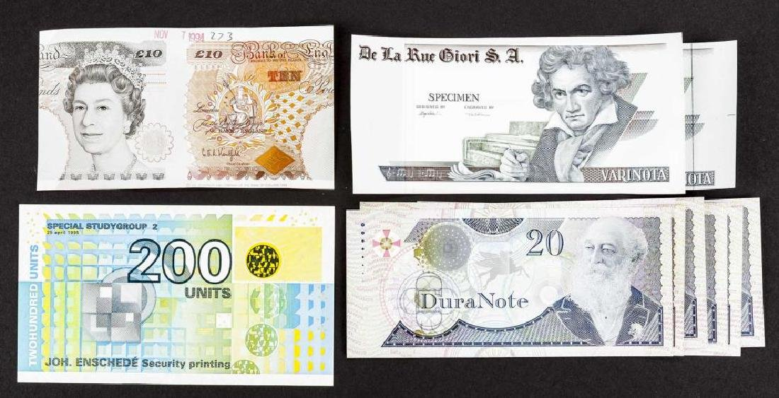 10 Banknote Specimens Incl Varinota and Duranote