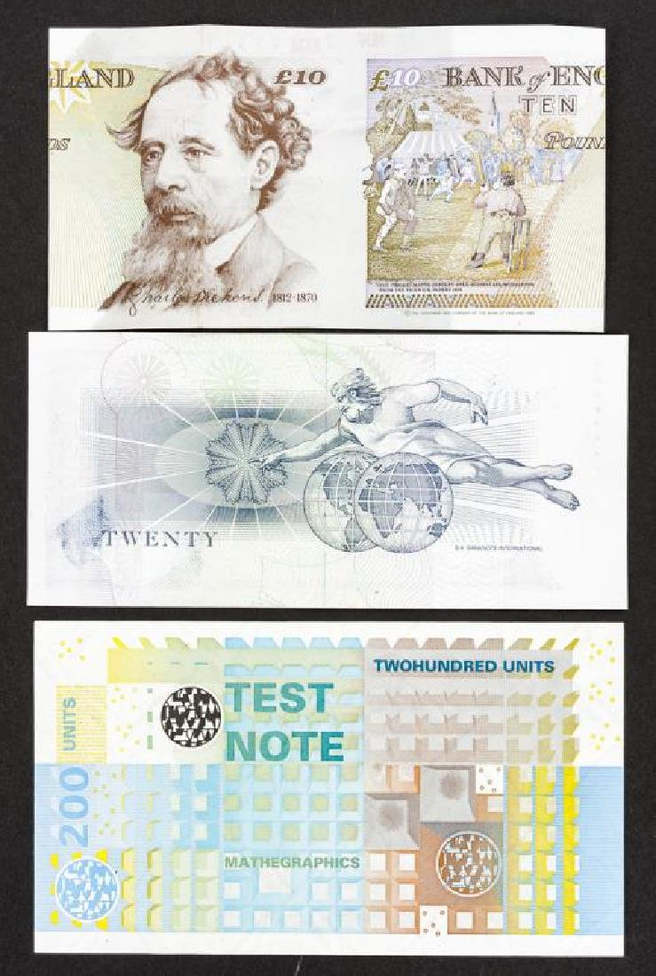 10 Banknote Specimens Incl Varinota and Duranote - 2