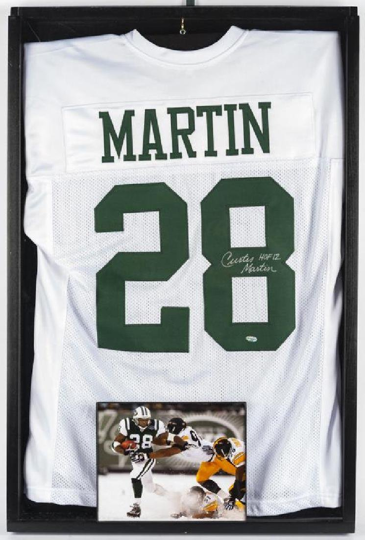 Autographed Curtis Martin Football Jersey