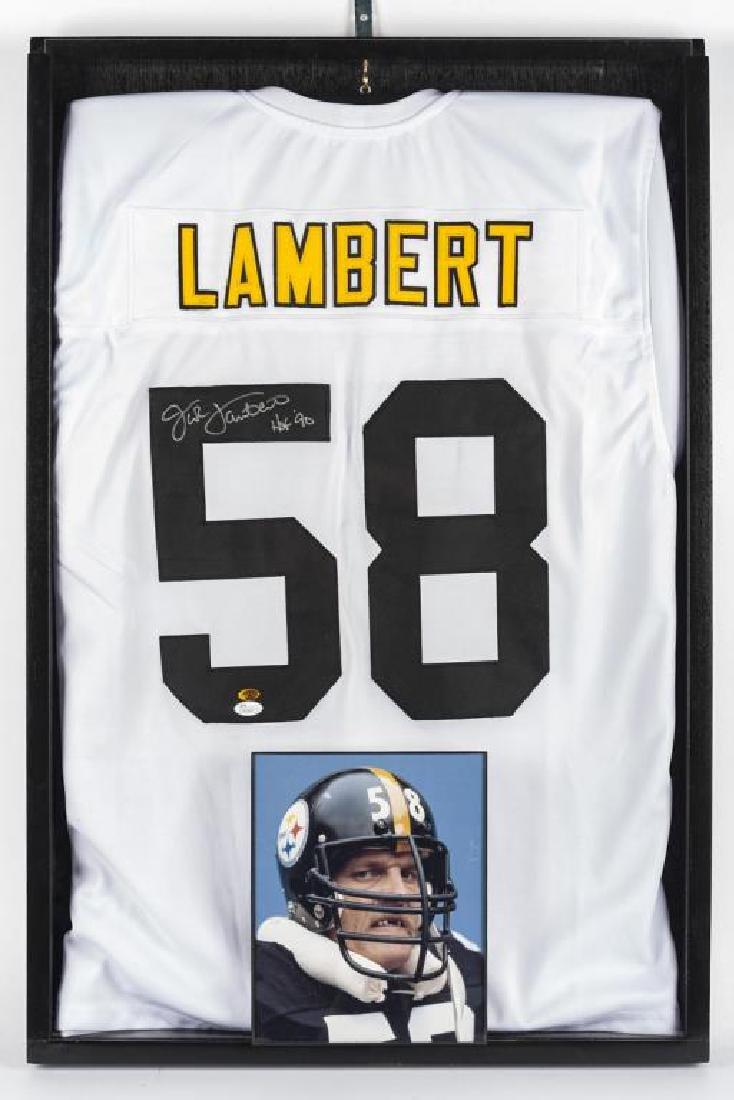 Autographed Jack Lambert Football Jersey