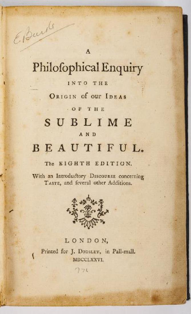 A Philofophical Enquiry by Edmond Burke