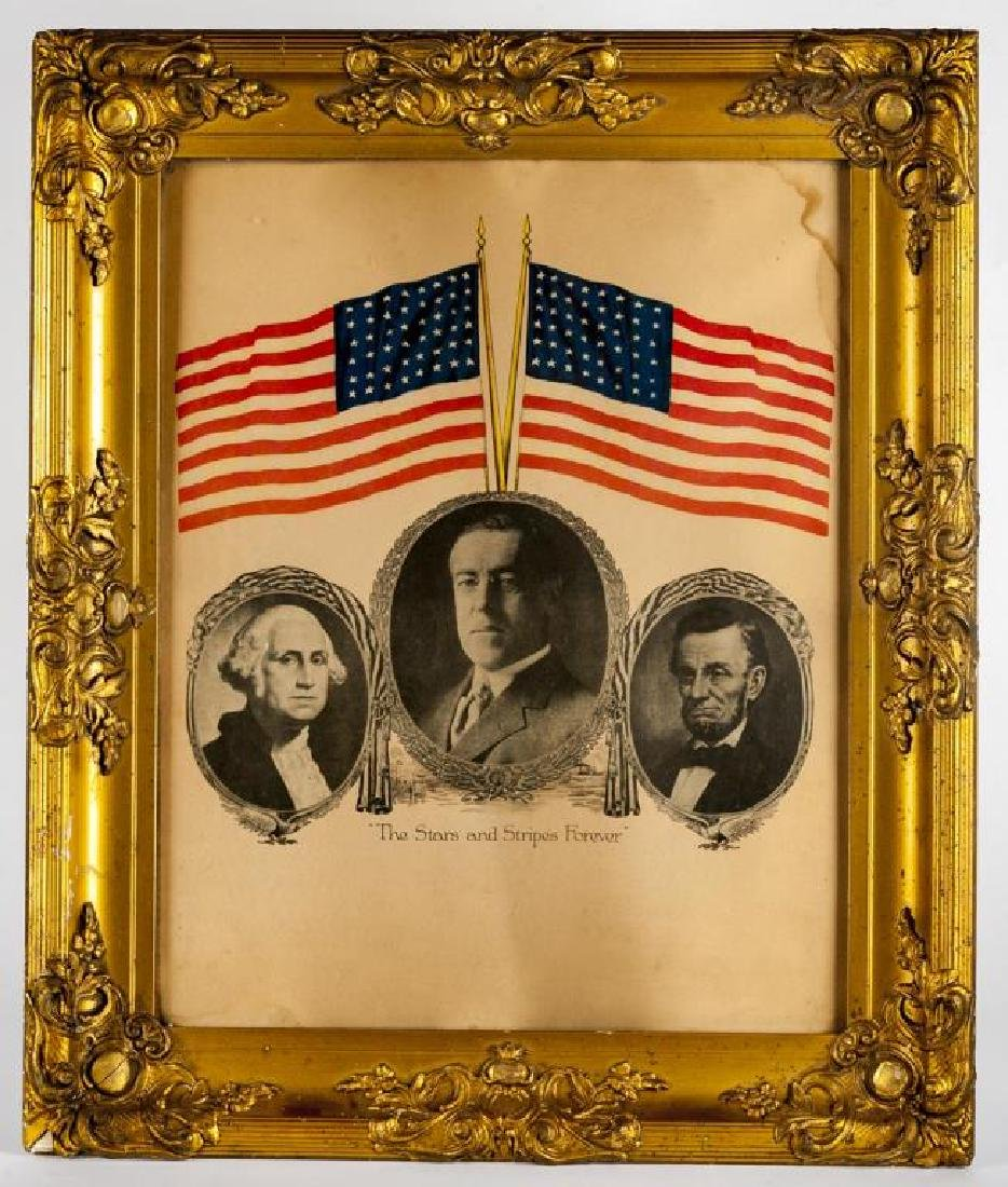 Woodrow Wilson Stars & Stripes Campaign Poster - 2