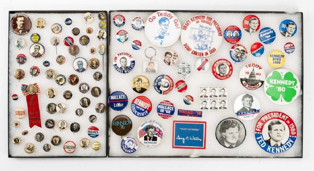 93 Political Pinbacks Incl Taft, Coolidge, Harding