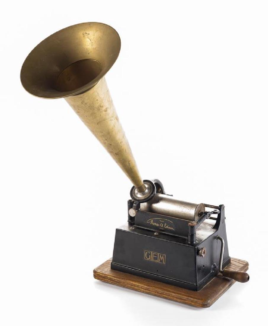 Antique Edison Gem Model B Wind Up Phonograph