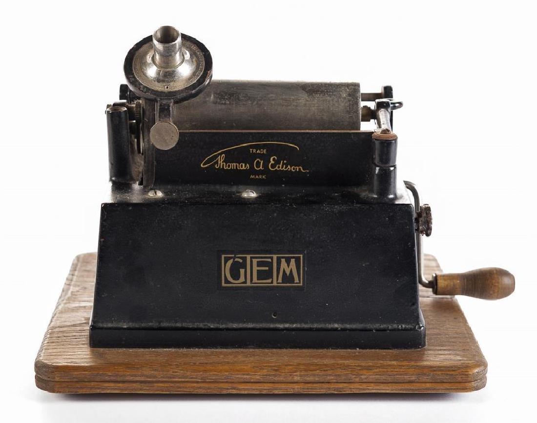 Antique Edison Gem Model B Wind Up Phonograph - 2