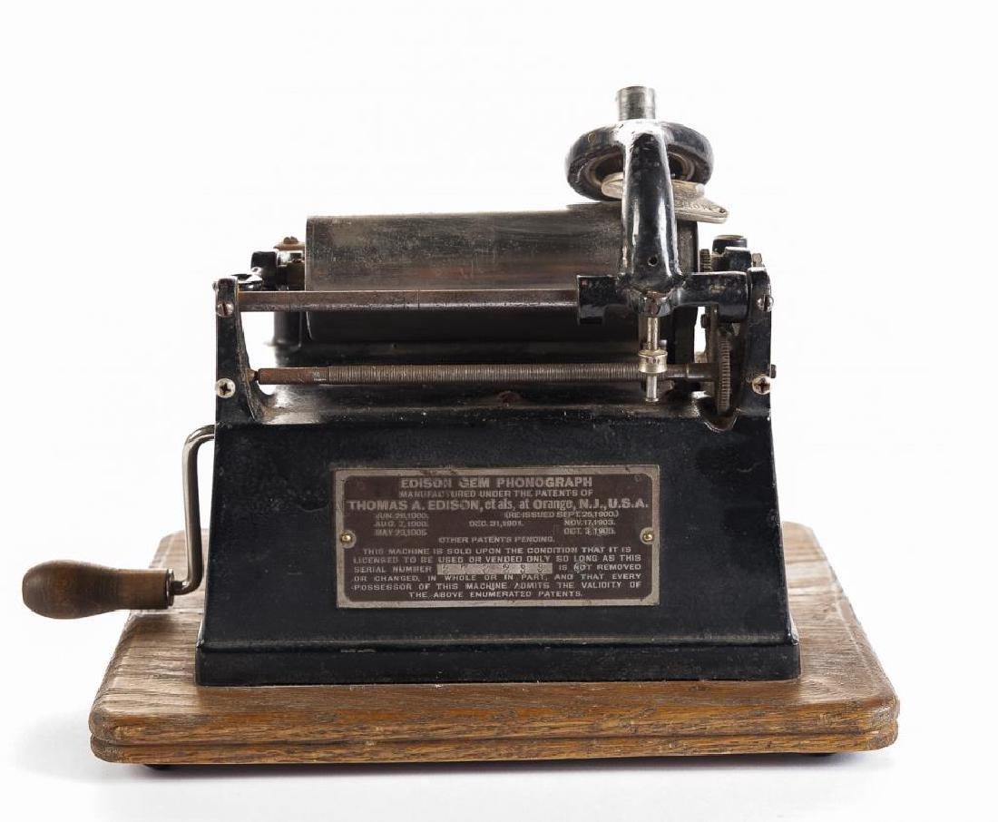 Antique Edison Gem Model B Wind Up Phonograph - 4