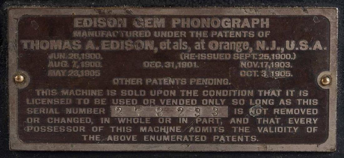 Antique Edison Gem Model B Wind Up Phonograph - 5