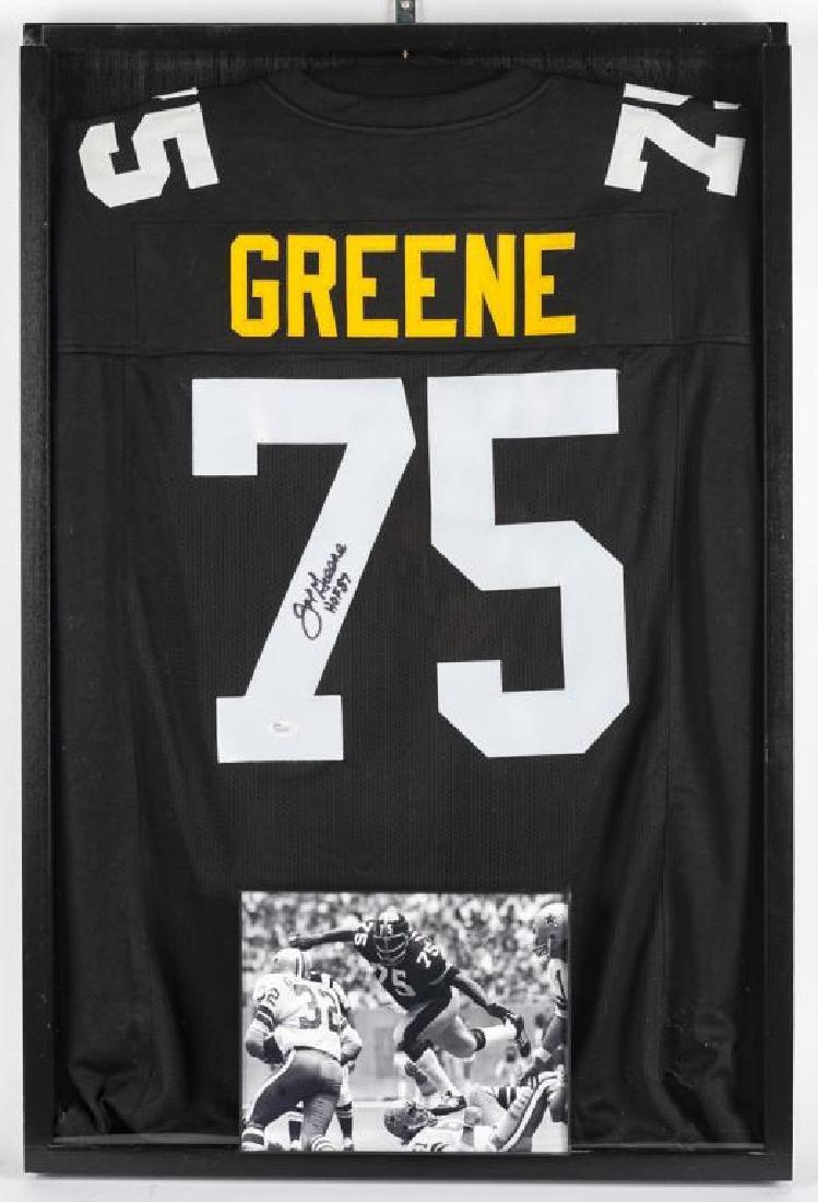 "Autographed ""Mean"" Joe Greene Football Jersey"