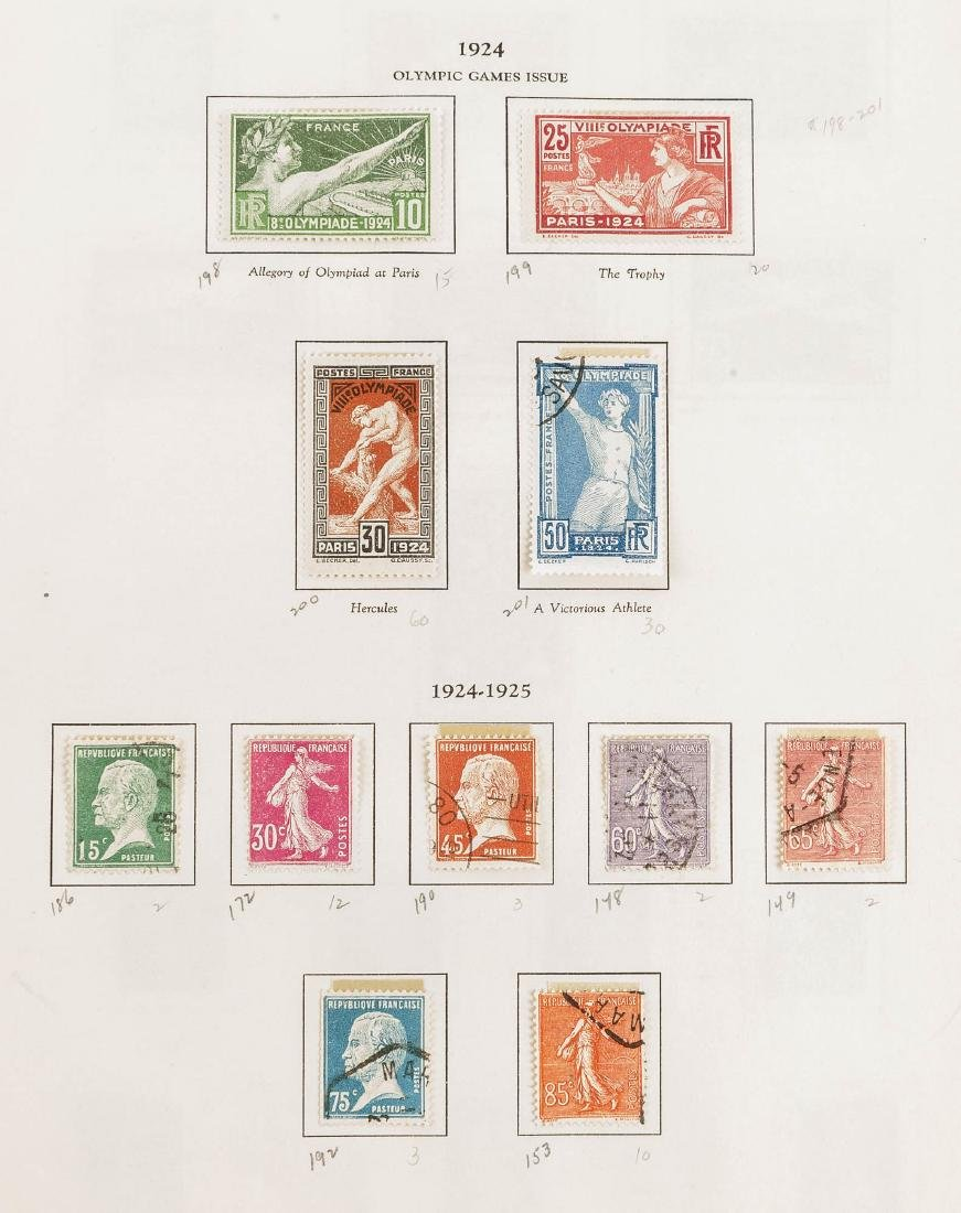 1849-1948 French Stamp Album - 2