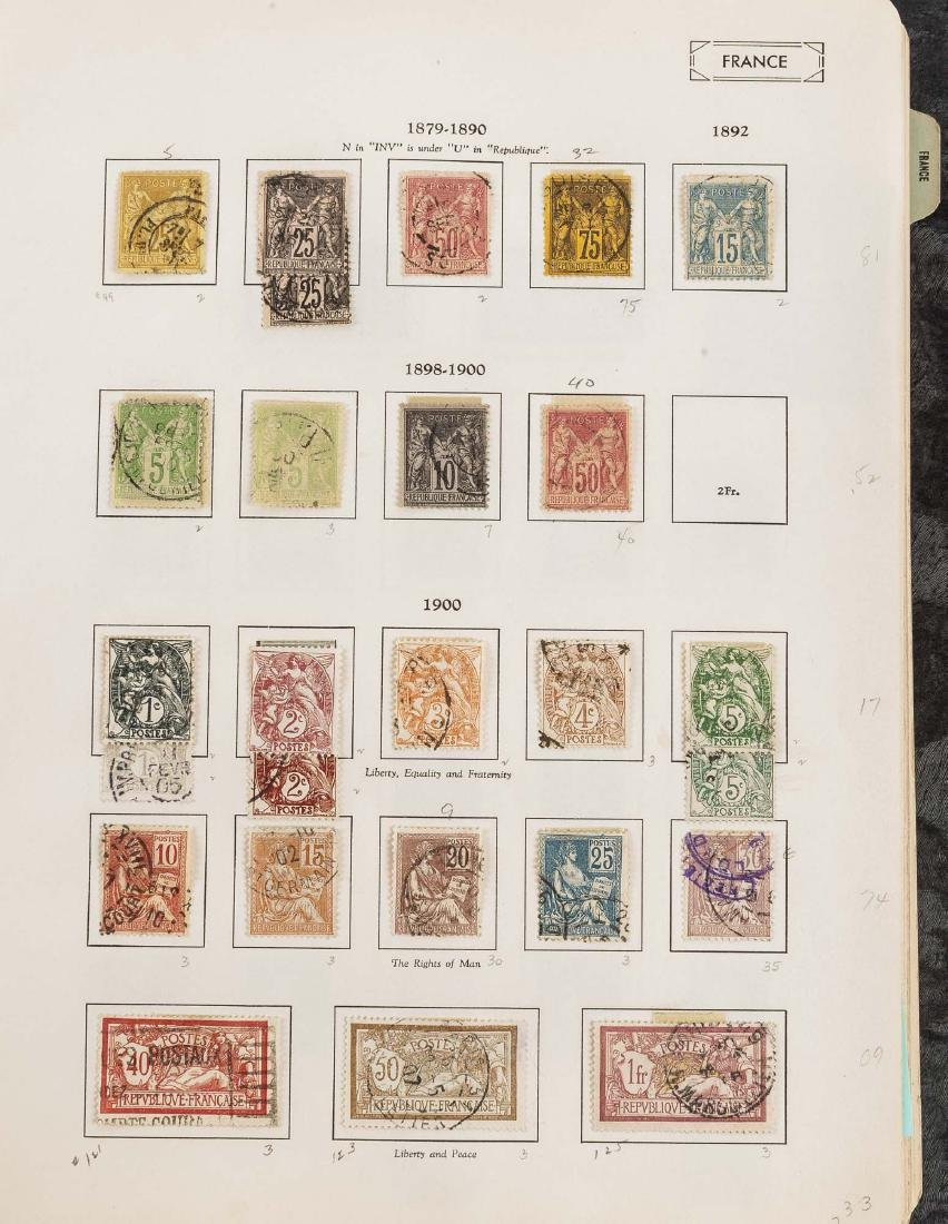 1849-1948 French Stamp Album - 5