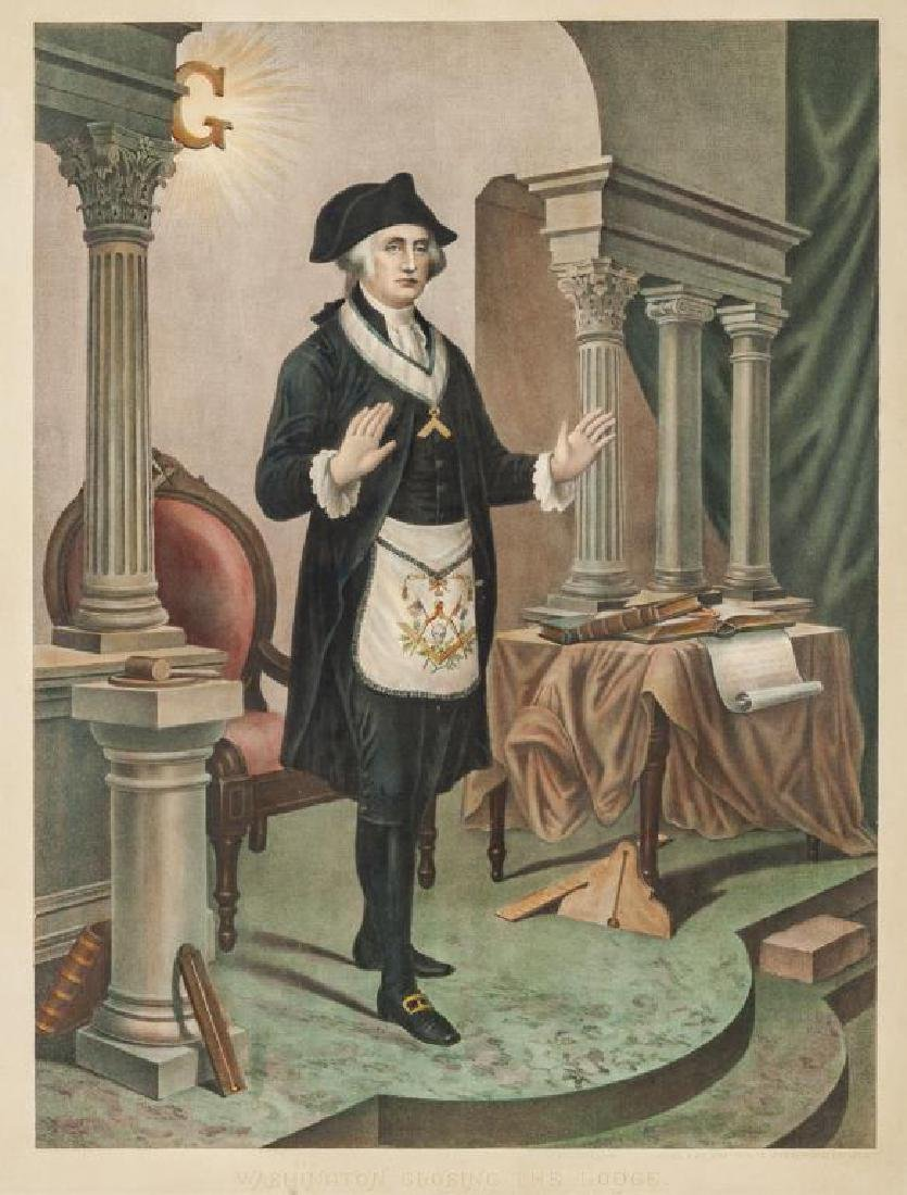 Washington Closing the Lodge Print