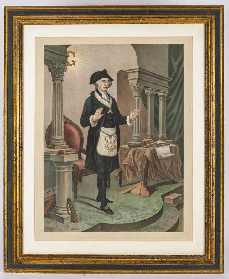 Washington Closing the Lodge Print - 2