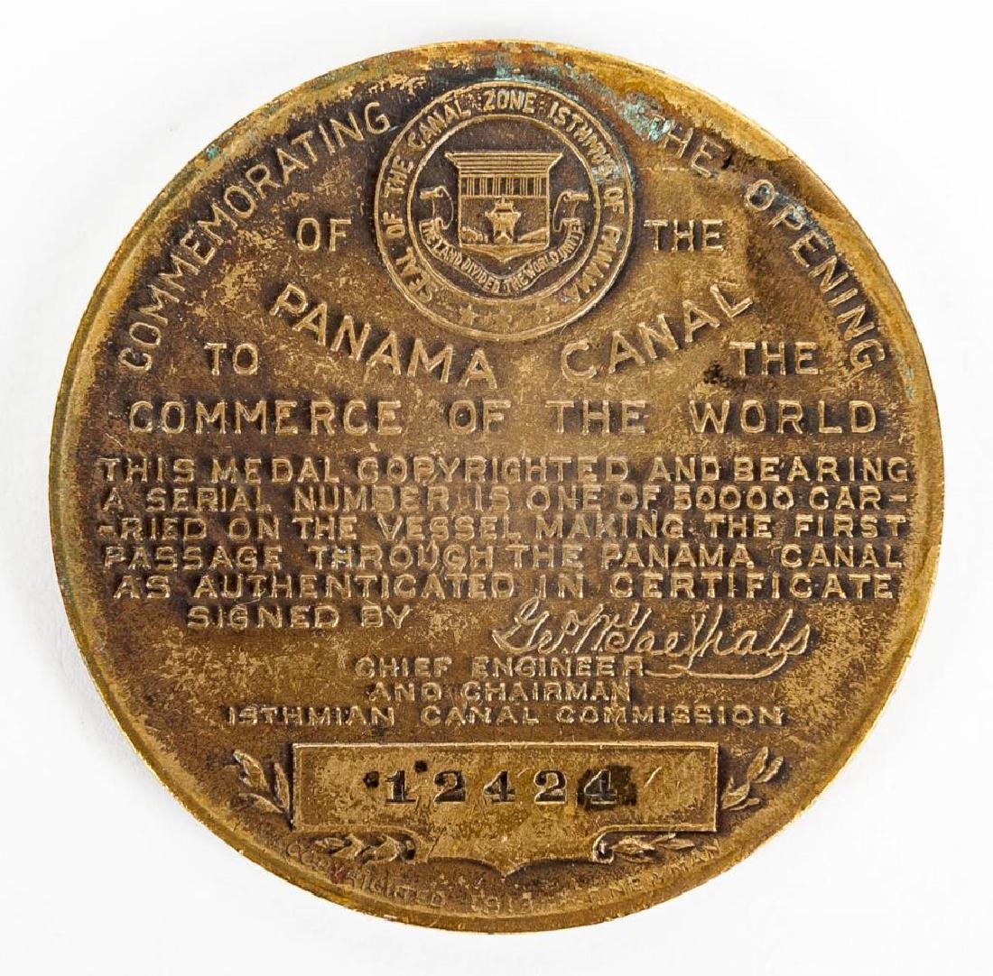 1914 Panama Canal Completion Medallion - 12424 - 2