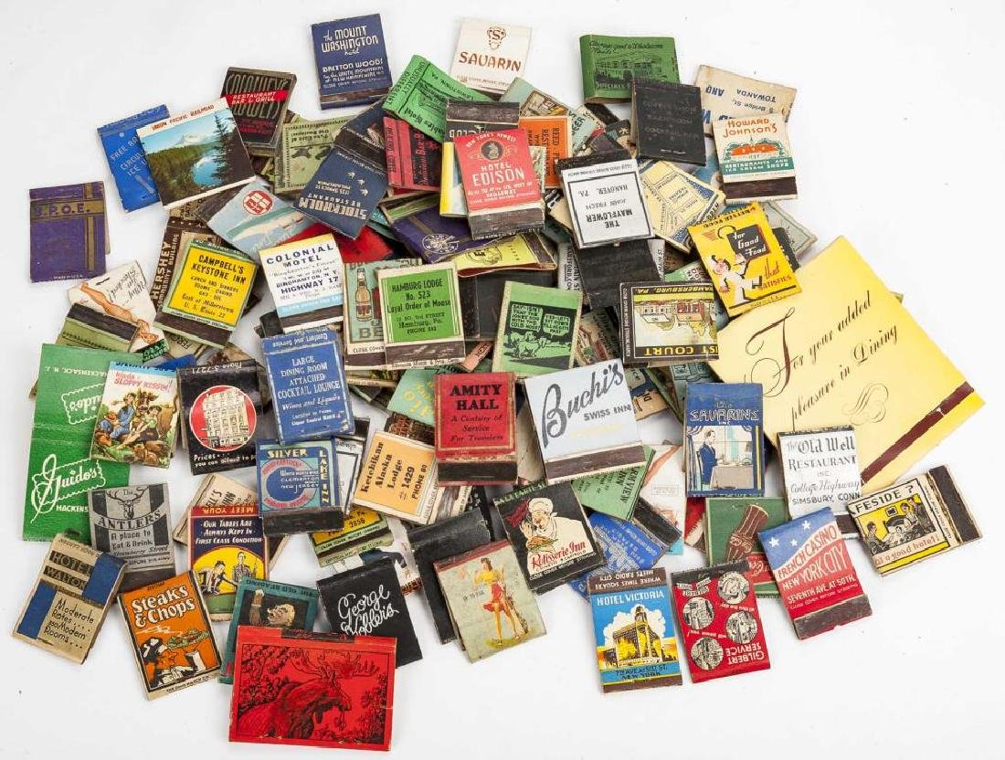 127 Matchbooks incl. Hotels and Restaurants