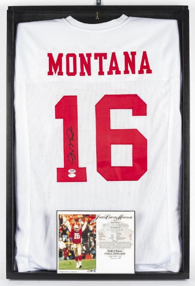 Autographed Joe Montana Football Jersey