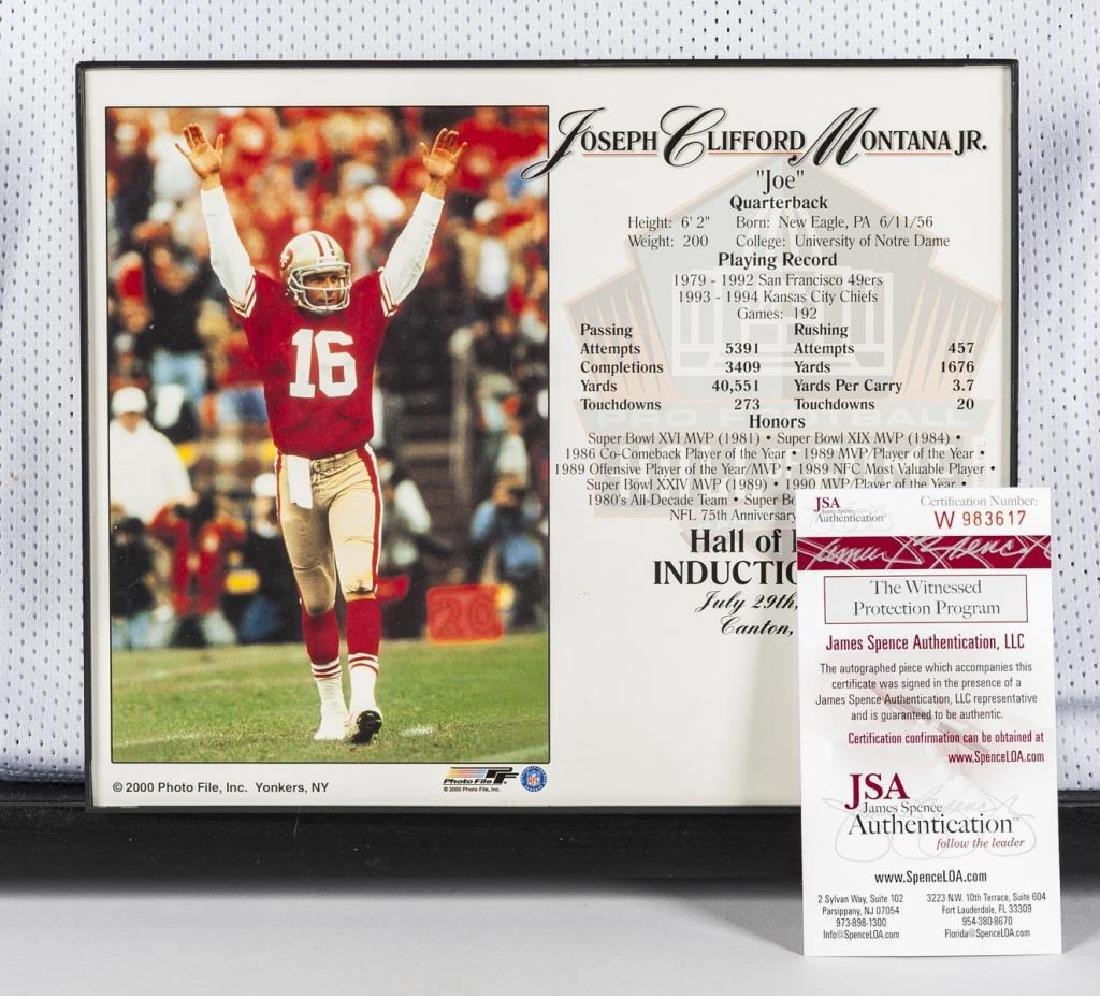 Autographed Joe Montana Football Jersey - 2