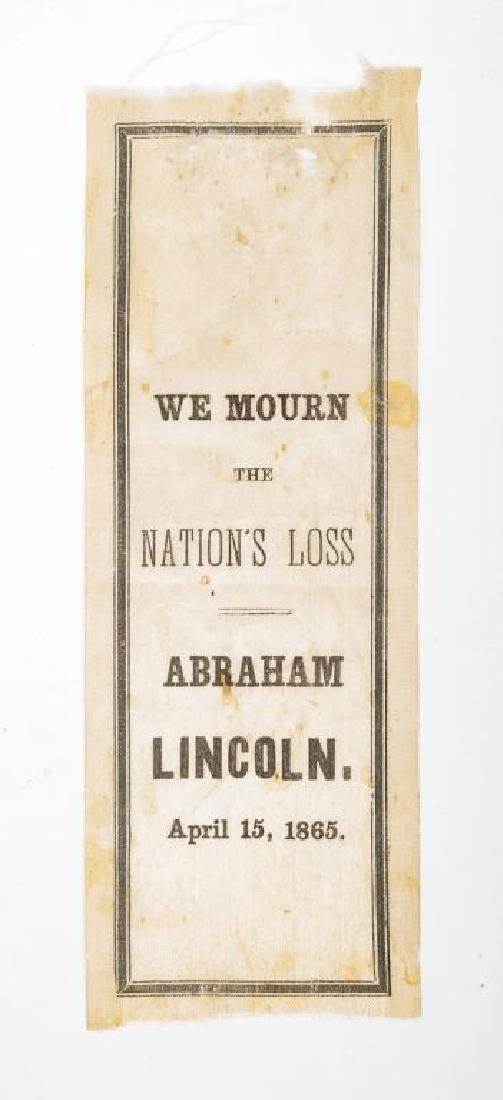 President Lincoln Mourning Ribbon & Newspaper