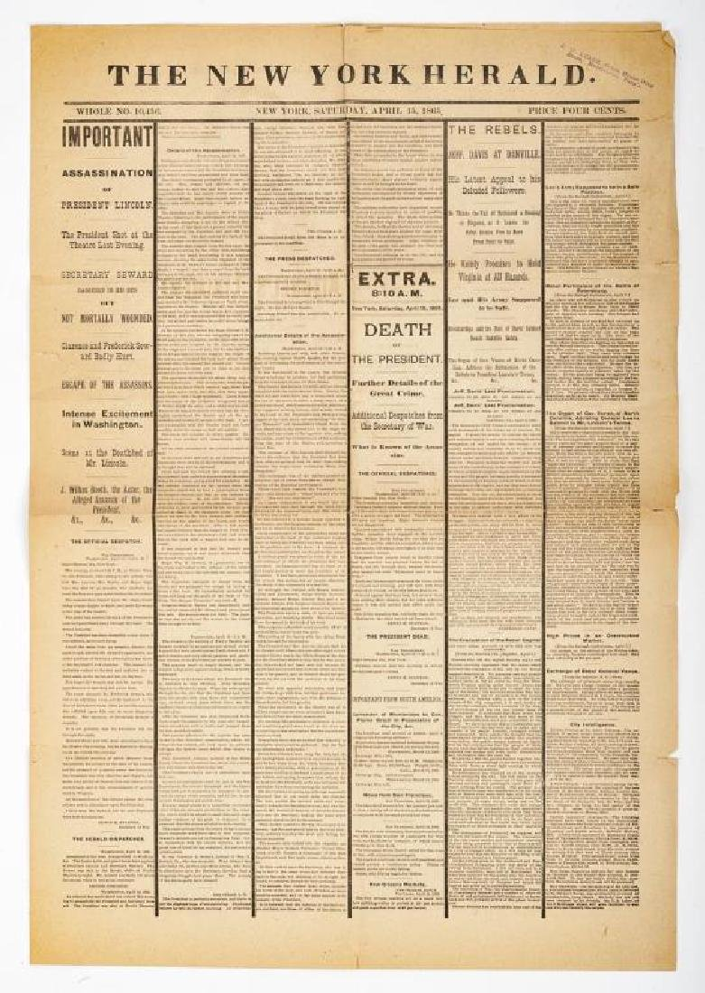 President Lincoln Mourning Ribbon & Newspaper - 4