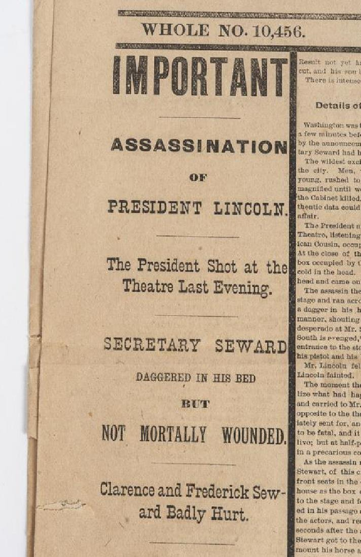 President Lincoln Mourning Ribbon & Newspaper - 6