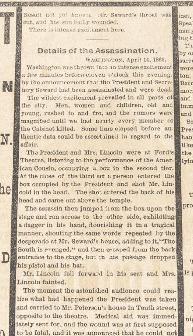 President Lincoln Mourning Ribbon & Newspaper - 7