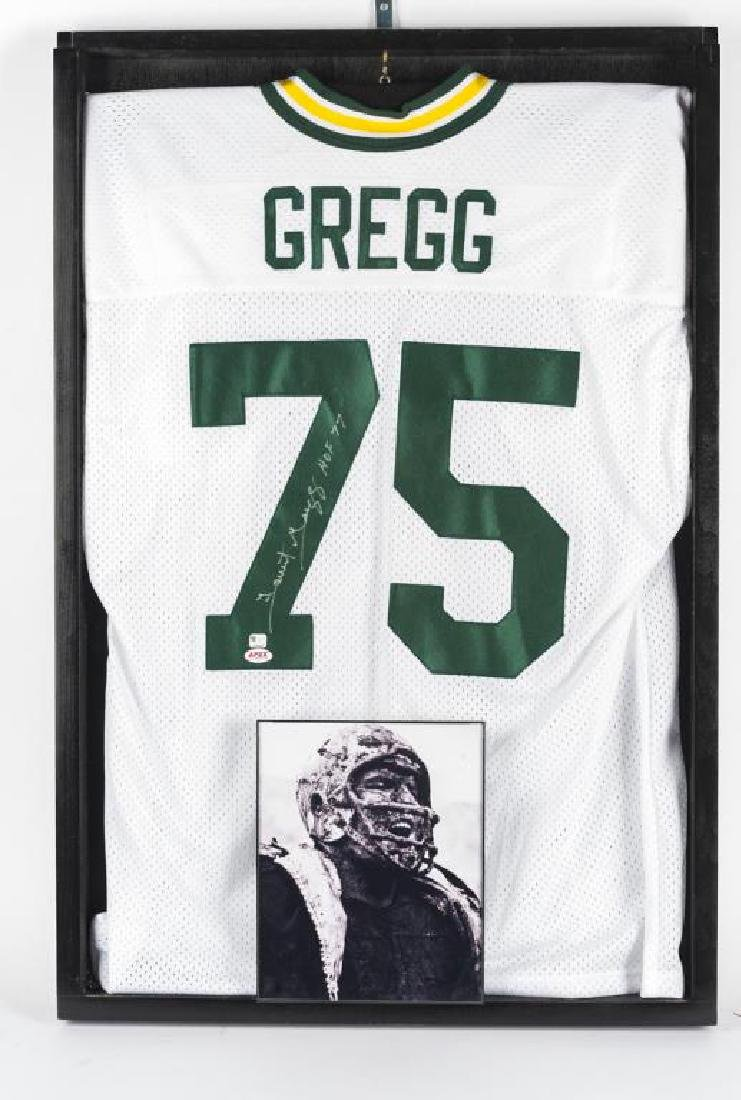 Autographed Forrest Gregg Football Jersey