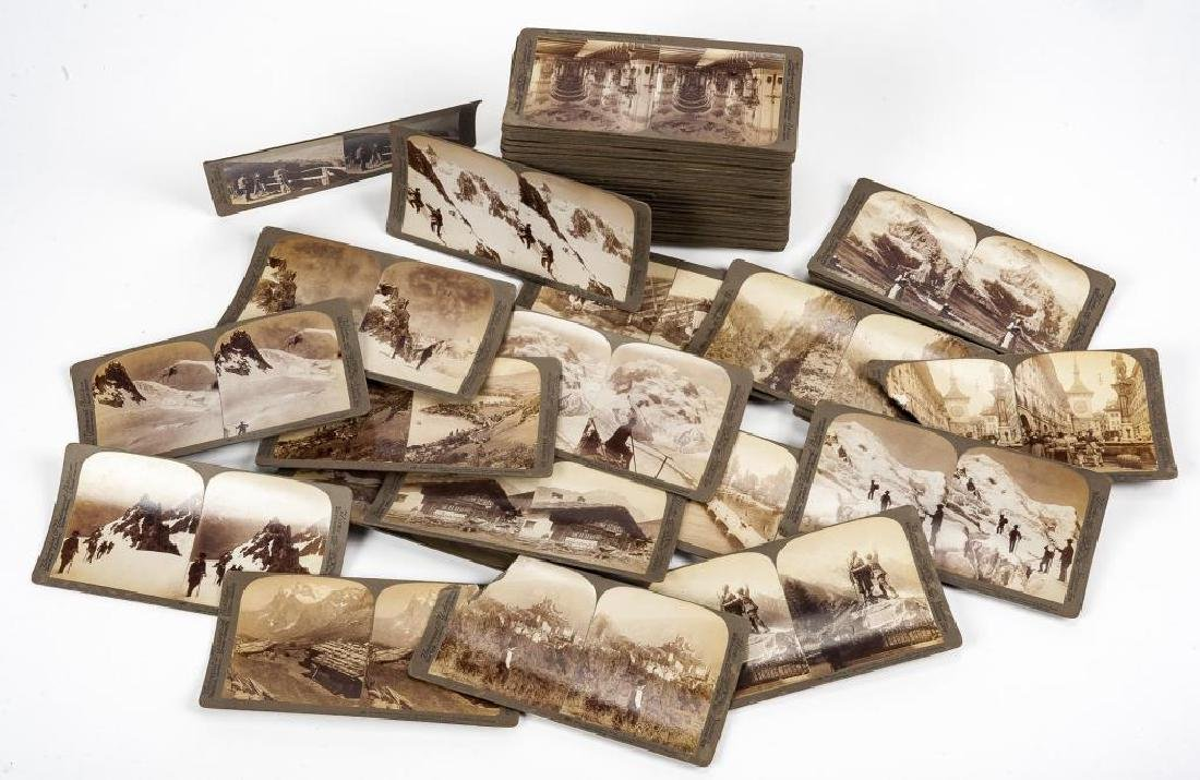 99 Stereoview Cards Incl Switzerland
