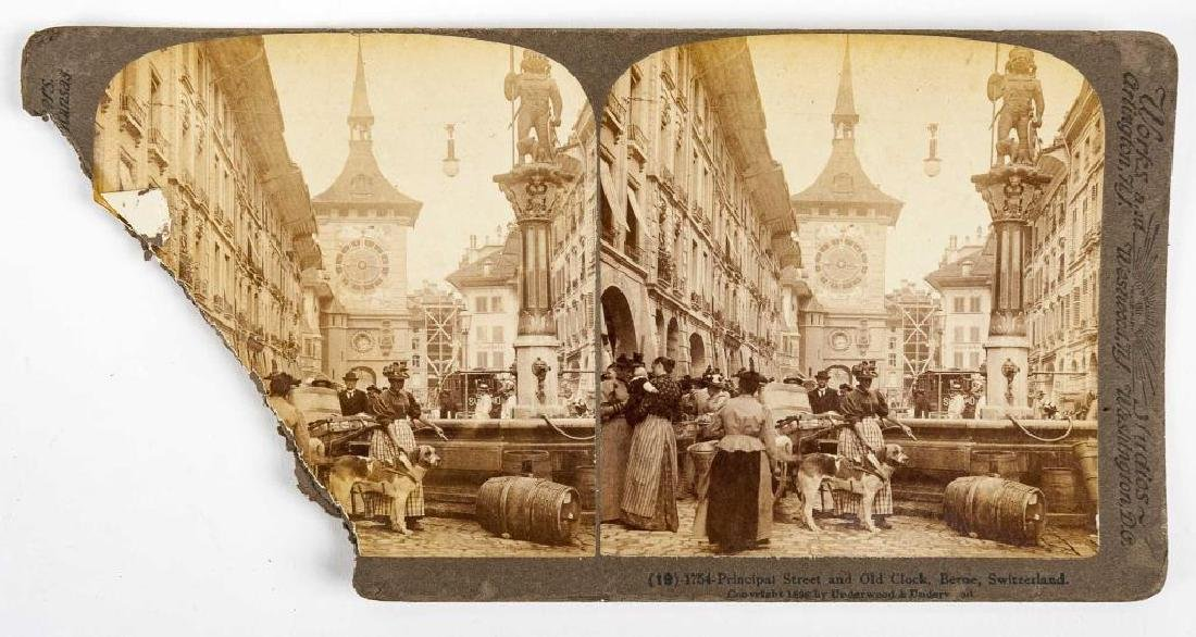 99 Stereoview Cards Incl Switzerland - 4