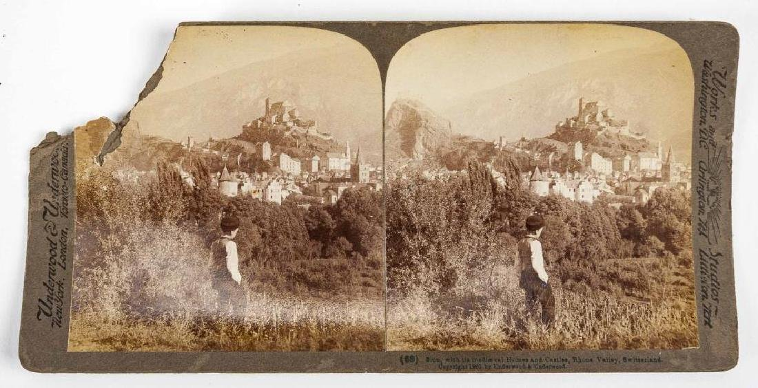 99 Stereoview Cards Incl Switzerland - 5